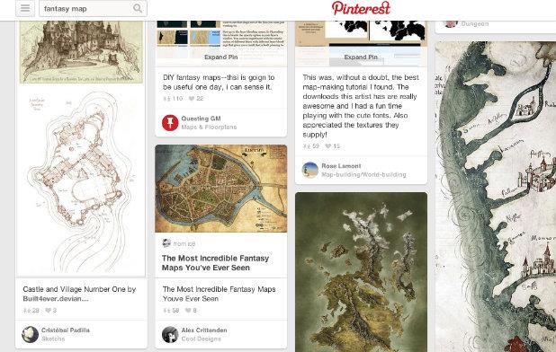 Pinterest Fantasy Map